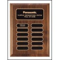 P3620 Walnut Plaque with 12 Oval Plates.